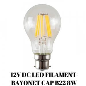 12V LED FILAMENT LAMP 8W