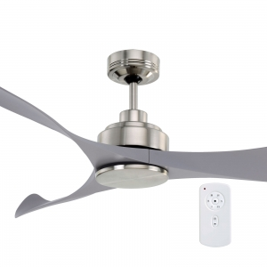 Mercator Eagle Ceiling Fan Brushed Chrome