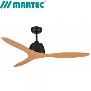 Elite Ceiling Fan Matt Black With Bamboo Blades