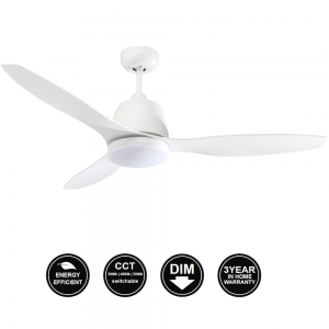 MEF1333WW​ Elite Ceiling fan White With CCT Led