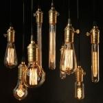 Carbon lamps, globes