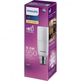 Philips 9.5W Warm White LED BC Stick - 1 Pack