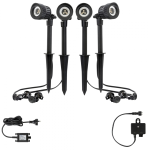 PINNACLE 4 Light 12V LED Garden Spotlight Kit 19922/06