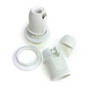 White E14 lamp Holder