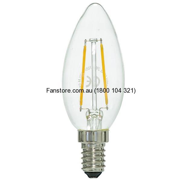 FANCY CANDLE 2W LED GLOBE E14 9E14LED12 Mercator Lighting