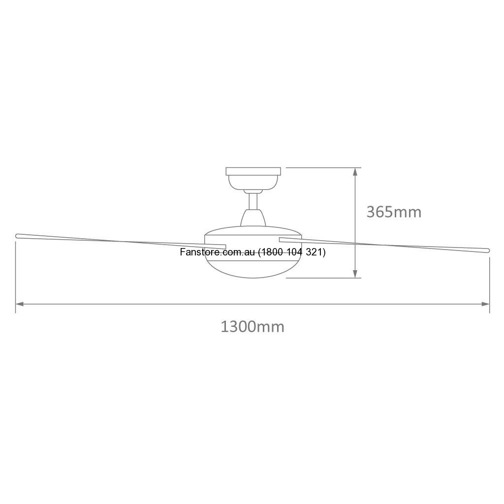 Brisk Ceiling fan size image