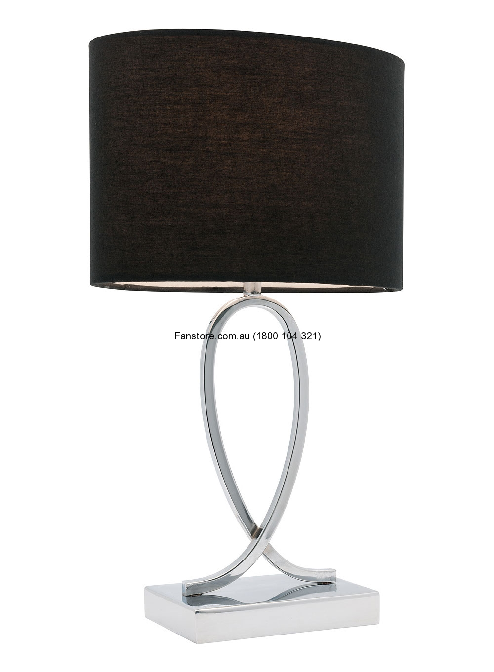 Campbell Small Touch Lamp Black