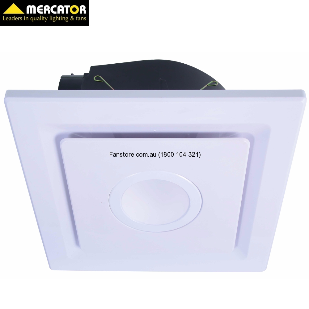 Emeline Small Square Exhaust Fan With LED