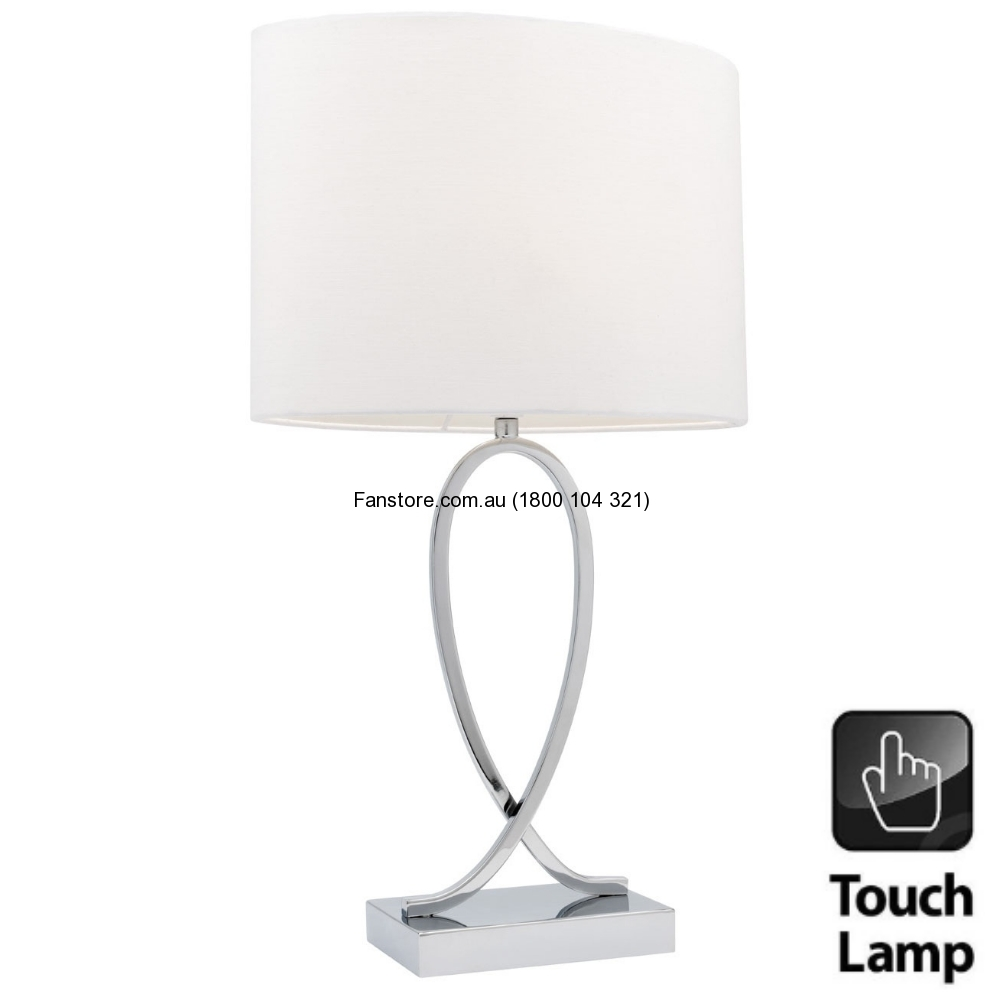 Campbell White Touch Table Lamp A28711SWHT