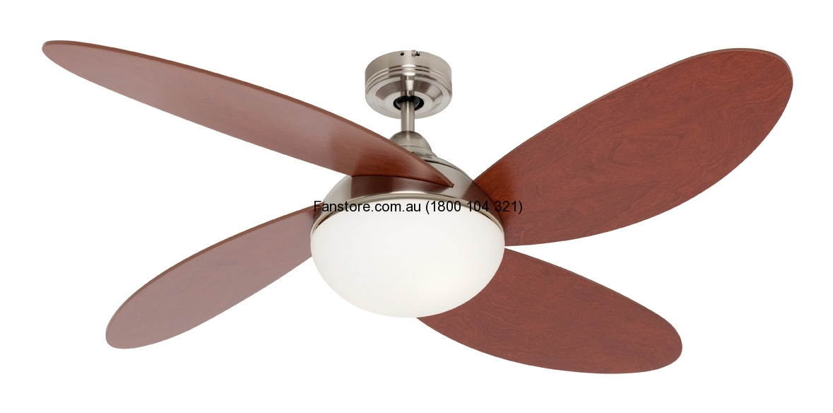 Rosebery Ceiling Fan Mercator Brushed Chrome