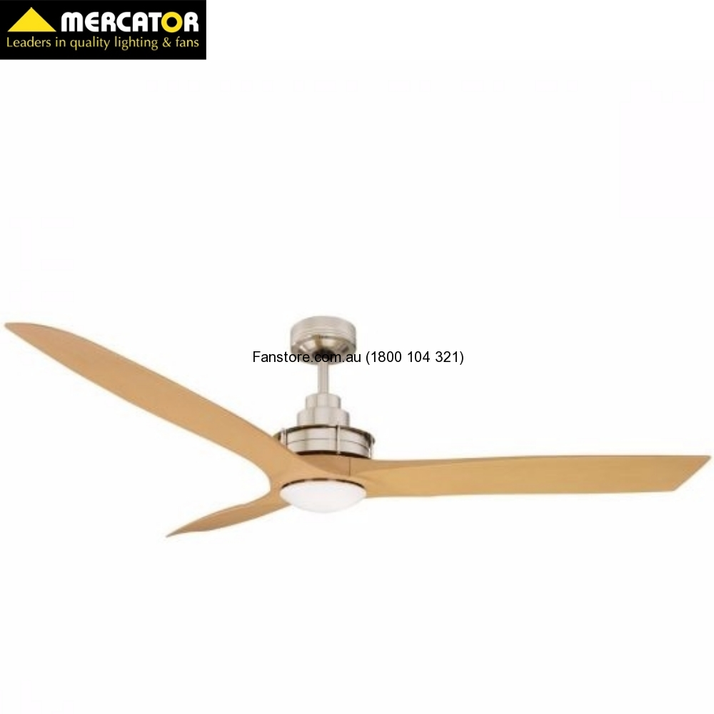 Flinders Ceiling Fan with 12w Led Brushed Chrome