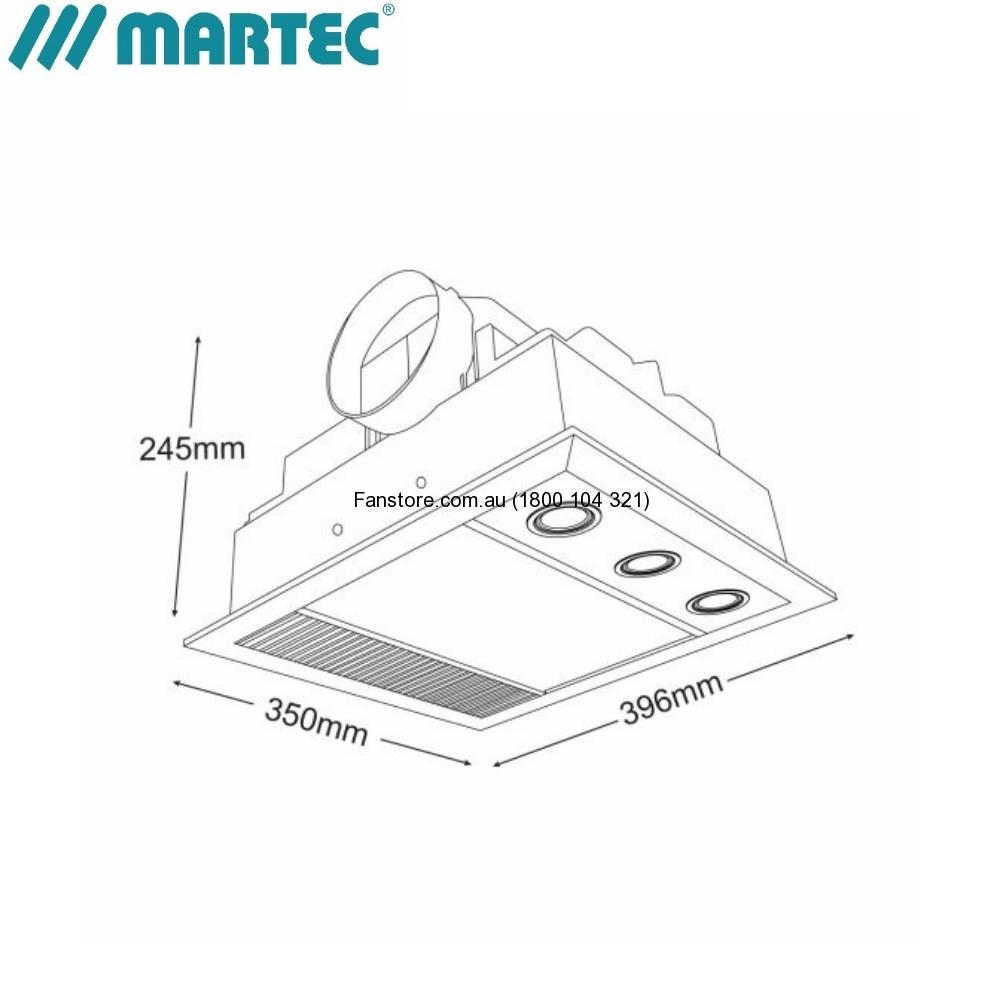 Martec Linear Bathroom Size