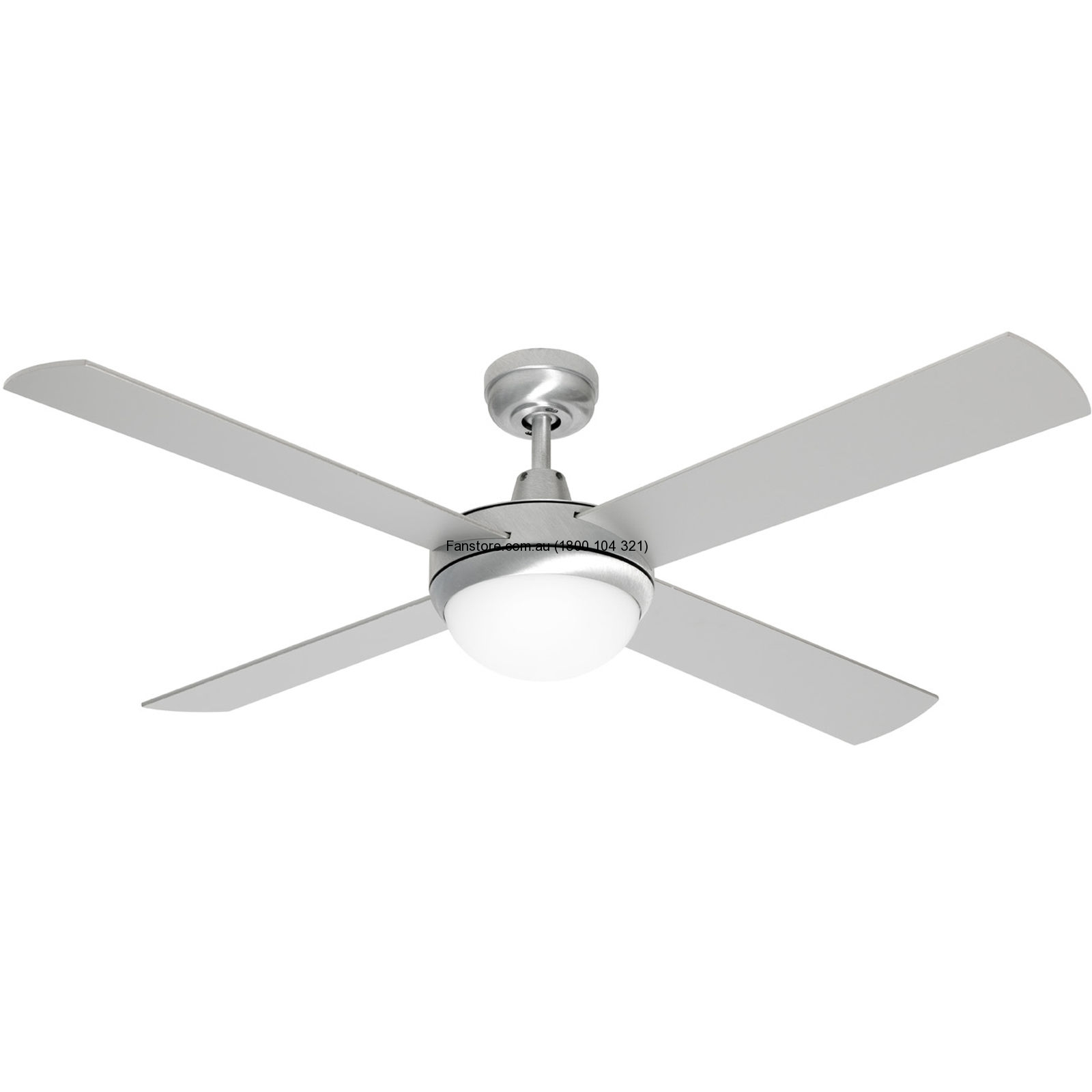 Grange Ceiling Fan Brushed Aluminium