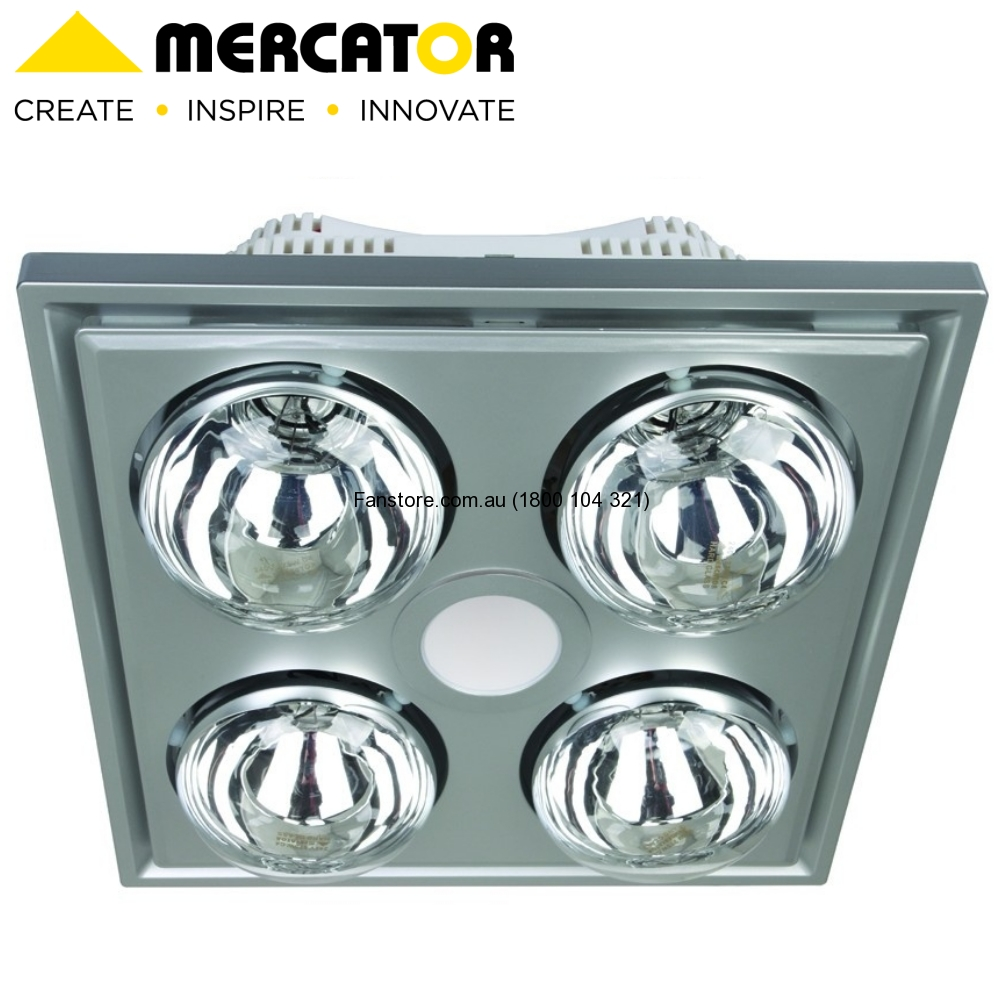 BATHROOM HEATER MIDAS SILVER