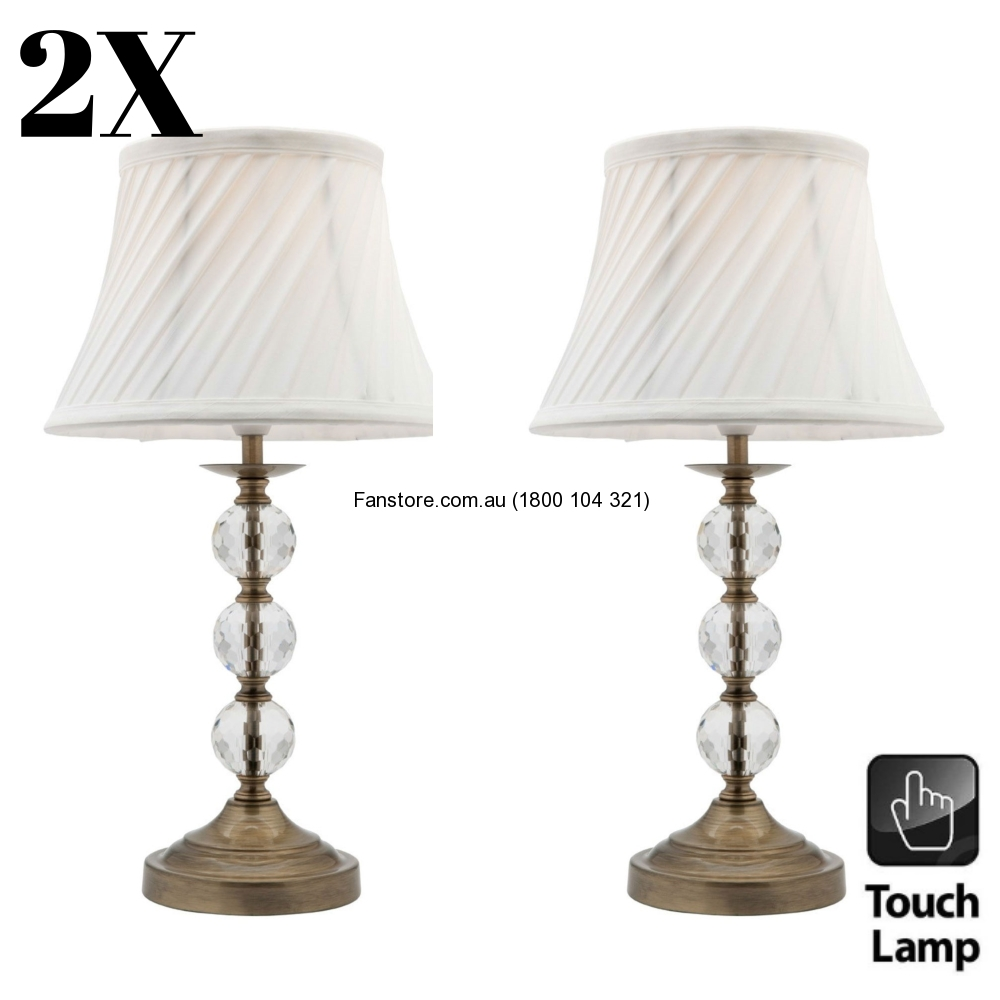 Pair of mercator owen bedside touch dimmable table lamp antique pair of mercator owen bedside touch dimmable table lamp antique brass a48211ab aloadofball