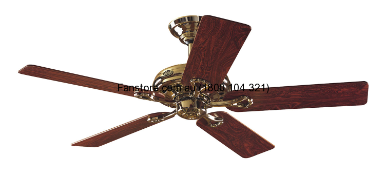 Savoy Ceiling Fan by Hunter – Bright Brass 52″