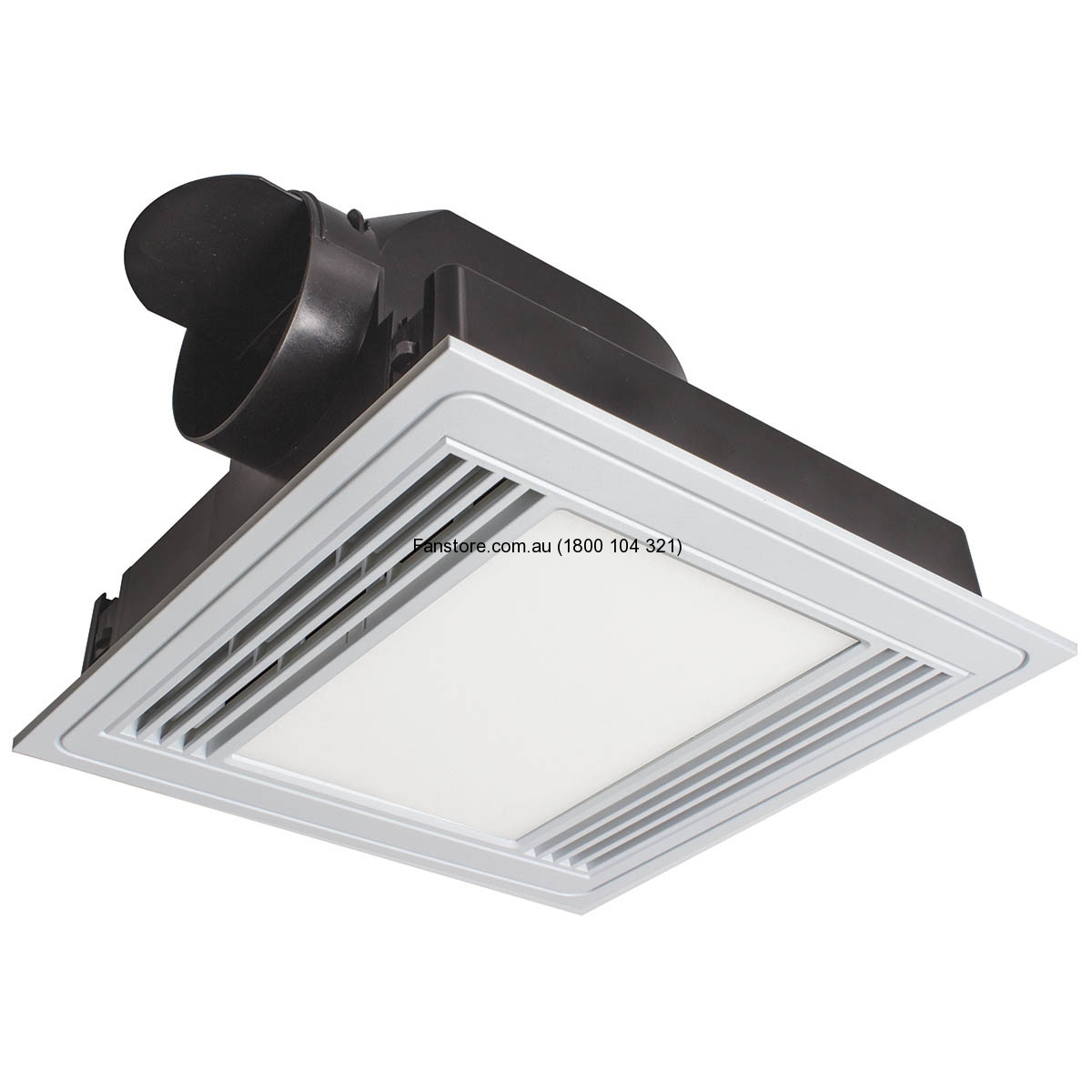 Brilliant Tercel Led Exhaust Fan Amp 13w Light White Square