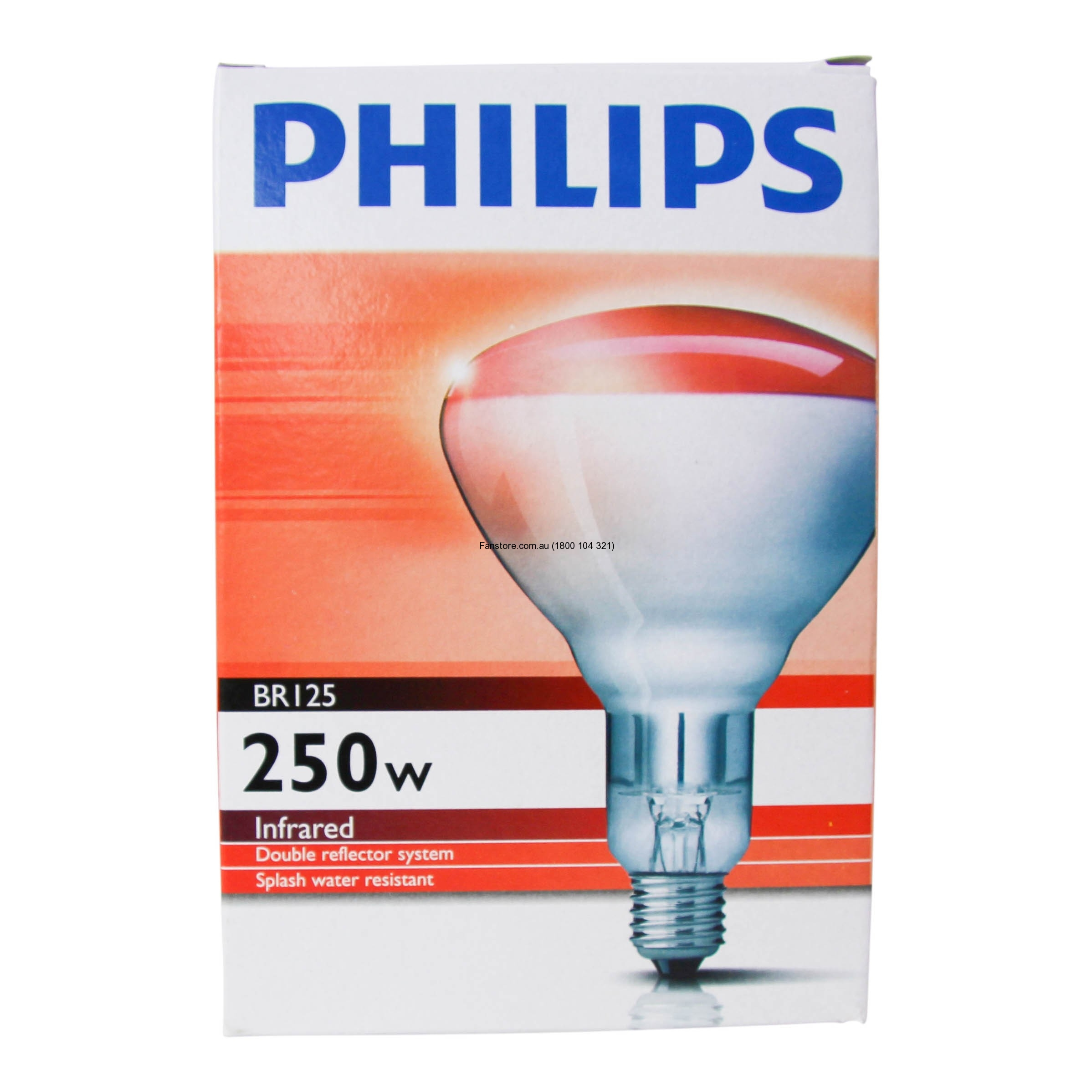 Philips Br125 Ir 250w E27 230 250v Red