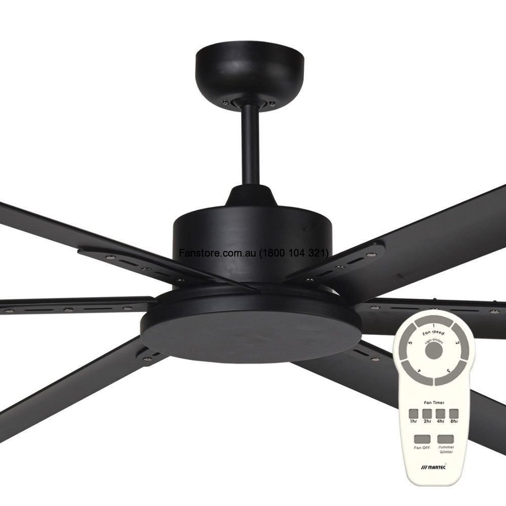 Martec Albatross Matt Black Dc 84 Ceiling Fan With Remote Control No Light Mafmmr