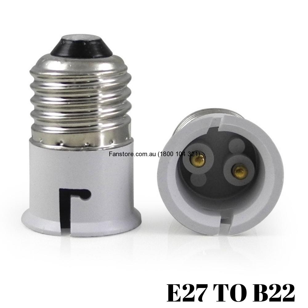 Light Bulb Lamp Holder Socket Plug Adapters Converter E27 To B22
